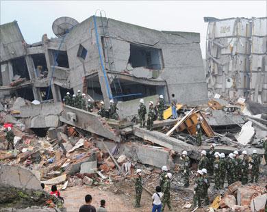 زلازل متعاقبة تصيب مدن الصين
