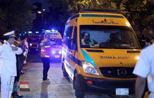 """عاجل.. إصابة 4 مواطنين في حادث بالقرب من """"دير الأنبا بضابا"""" في قنا"""