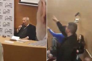 اعتداء بعض الشباب على الدكتور «سعد الدين إبراهيم» في جامعة تل أبيب «فيديو»