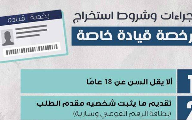 شروط وإجراءات استخراج رخصة قيادة خاصة والأوراق المطلوب تقديمها