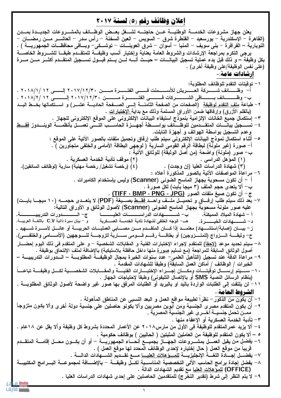 وظائف وزارة الدفاع في عدد من المحافظات لجميع المؤهلات العلمية والتقديم حتى 12 فبراير 1