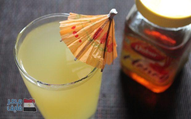 عصير الزنجبيل مع العسل