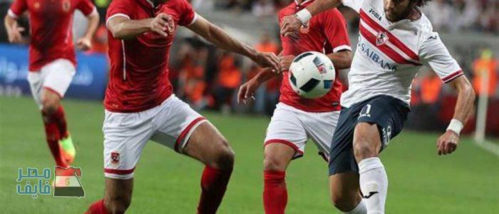 موعد مباراة الأهلي والزمالك القادمة بالدوري المصري والقنوات الناقلة