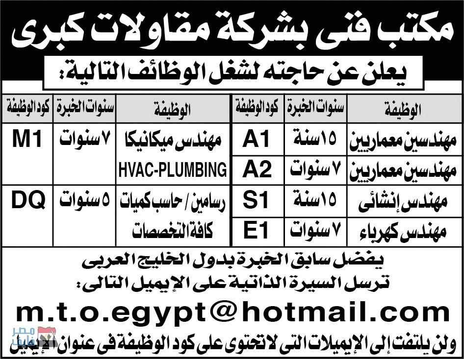 وظائف الصحف المصرية لجميع التخصصات والمؤهلات داخل وخارج مصر 13