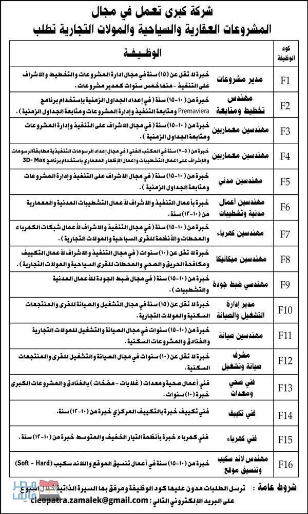 وظائف الصحف المصرية لجميع التخصصات والمؤهلات داخل وخارج مصر 14