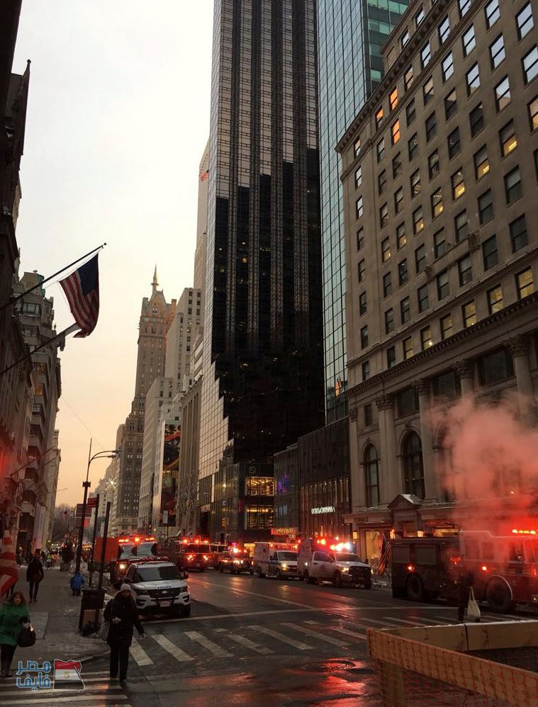 بالفيديو والصور| نشوب حريق في برج ترامب في مانهاتن وإصابة شخصين 2