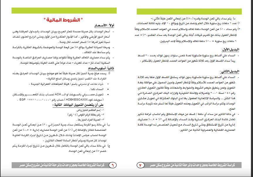 فتح باب الحجز بمشروع «سكن مصر» ننشر كراسة الشروط والوحدات المتاحة 5
