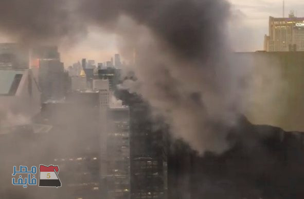 بالفيديو والصور| نشوب حريق في برج ترامب في مانهاتن وإصابة شخصين