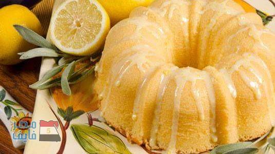 طريقة عمل كيكة الليمون الهشة