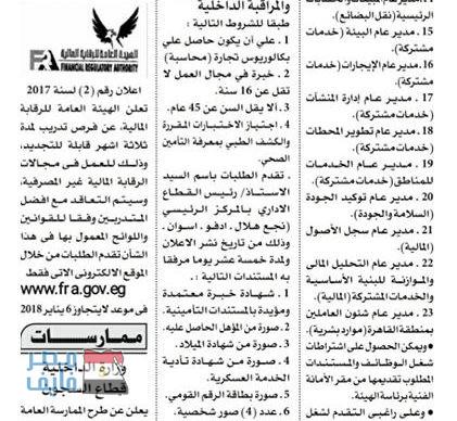 وظائف الهيئة القومية لسكك حديد مصر وشركة النصر للتعدين وموعد انتهاء التقديم والأوراق المطلوبة