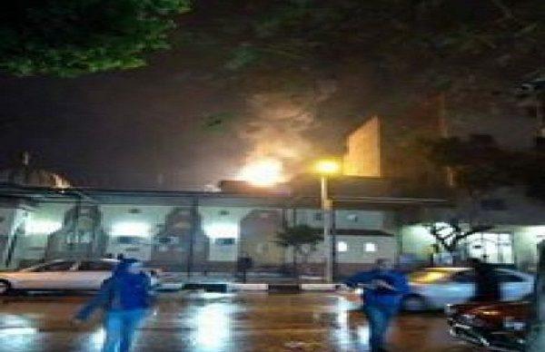 حريق بأحد محطات مترو الخط الأول وتوقف الحركة بها بسبب الأمطار