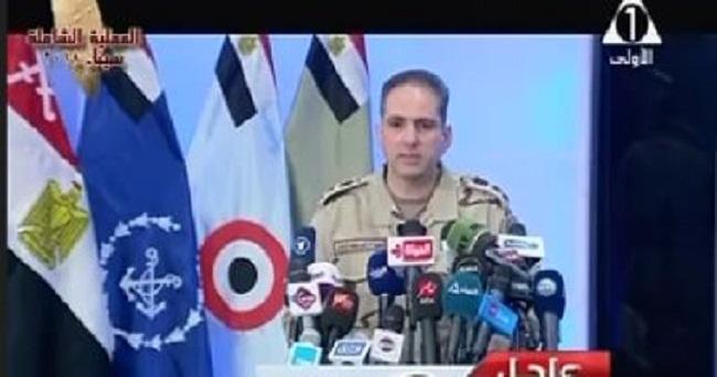 نص البيان التاسع للقوات المسلحة بشأن العملية العسكرية الأكبر في سيناء