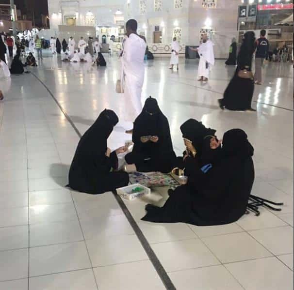 أول تعليق من رئاسة شؤون الحرمين حول واقعة ضبط سيدات يلعبن السيكونس في الحرم المكي