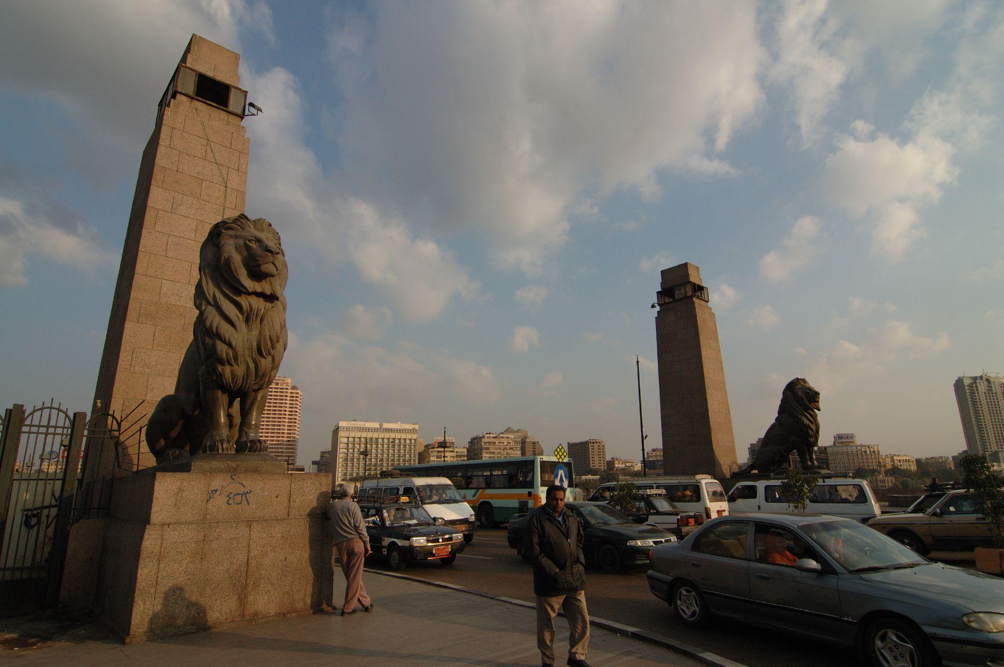 """شاهد.. ظهور أعلام تركيا وقطر على كوبري """"قصر النيل"""" يثير حالة من الجدل"""