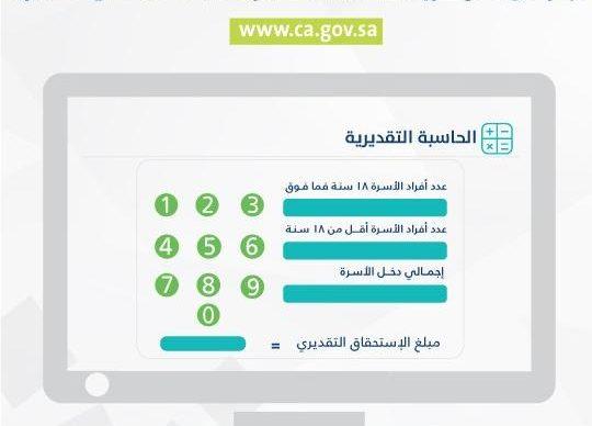 حاسبة حساب المواطن التقديرية لصرف الدفعة الثالثة من الاستحقاق خلال ساعات قليلة
