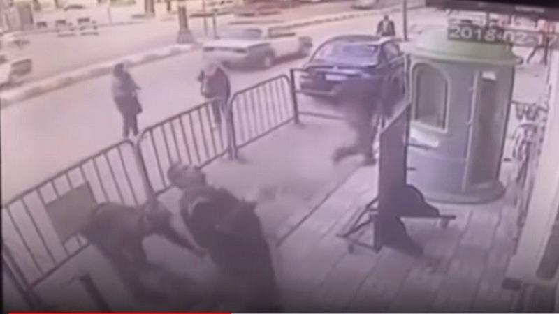 واقعة تحبس الأنفاس ..شرطي مصري ينقذ طفلاُ بطريقة بطولية.. فيديو