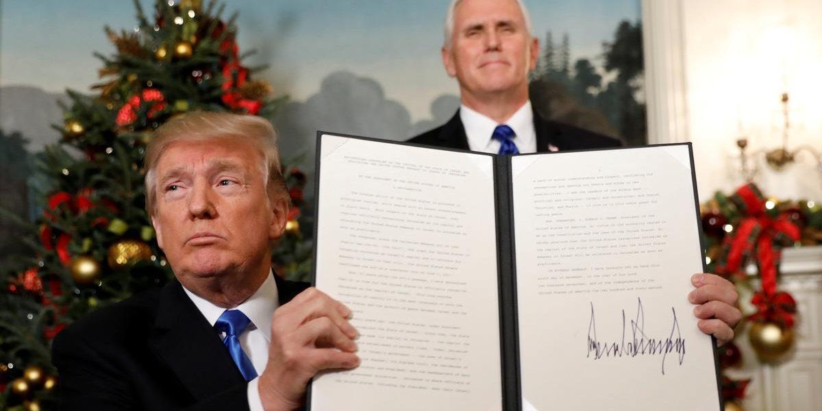 «ترامب» يعلن اعتزامه زيارة إسرائيل لتدشين نقل السفارة الأمريكية للقدس