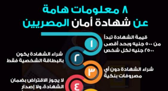 معلومات هامة لا تعرفها عن شهادة أمان المصريين