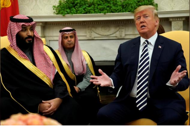 ترامب يثني على المبيعات العسكرية الأمريكية للسعودية وحفاوة باستقبال ولي العهد محمد بن سلمان