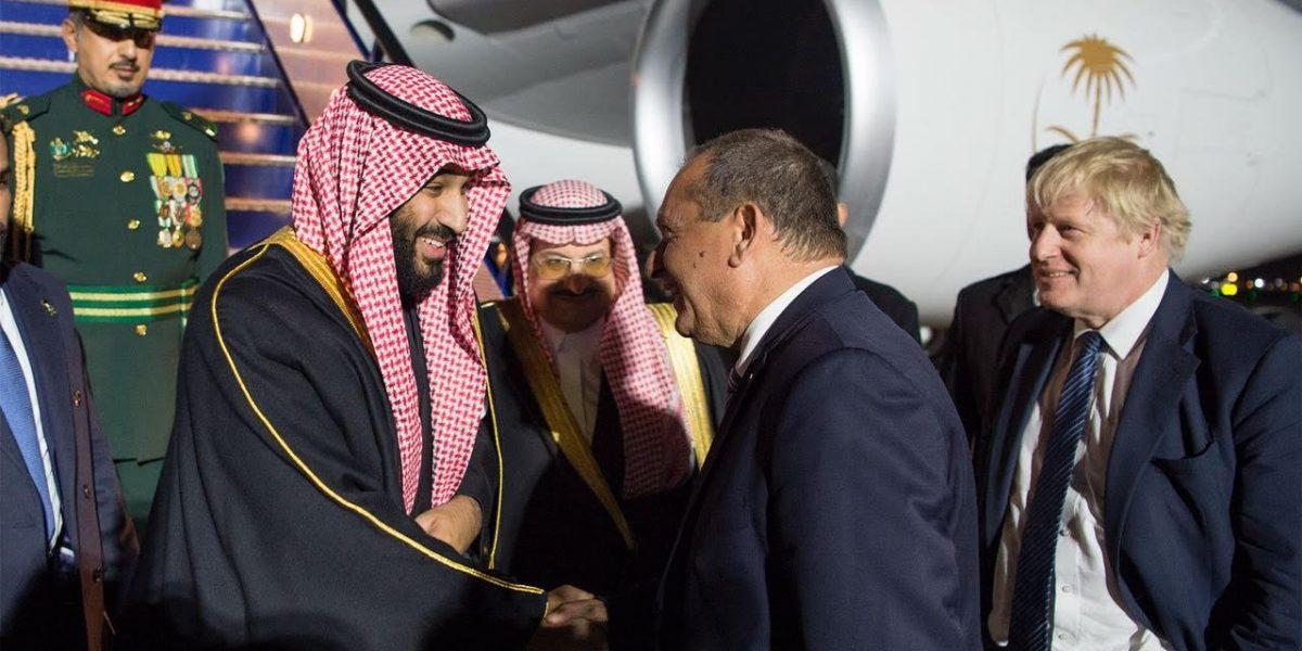 بالفيديو  شاهد كيف استقبلت بريطانيا محمد بن سلمان بعد زيارته لمصر