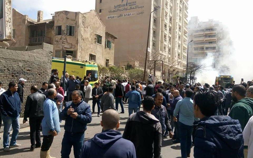 شاهد بالفيديو اللقطات الأولي للتفجير.. ننشر أول بين لوزارة الداخلية حول تفاصيل انفجار الإسكندرية