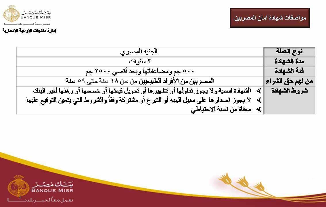 """شهادة ادخار """"أمان المصريين"""" التي تعطي وثيقة تأمين على الحياة ومميزاتها..التفاصيل كاملة 3"""