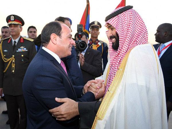 الأمير محمد بن سلمان يبعث ببرقية شكر للسيسي