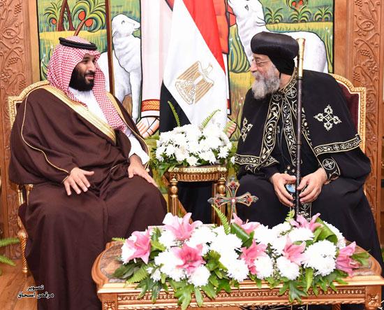 ماذا طلب ولي العهد السعودي من البابا تواضروس؟
