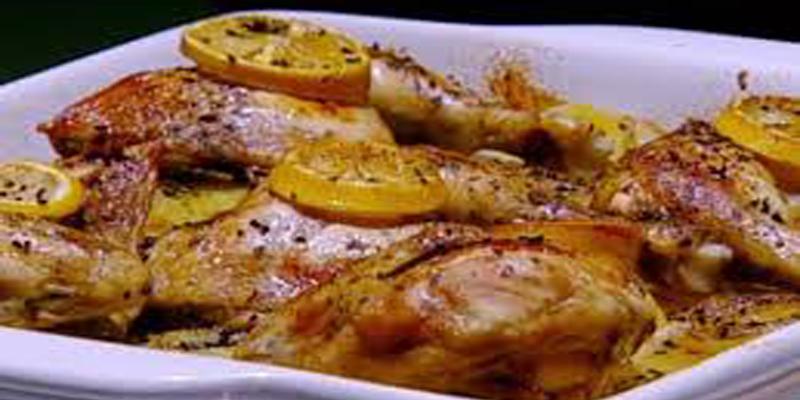 دجاج بالليمون والأعشاب