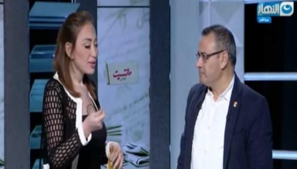 بالفيديو في أول ظهور أعلامي لها بعد البراءة ريهام سعيد تقتحم الأستوديو على القرموطي