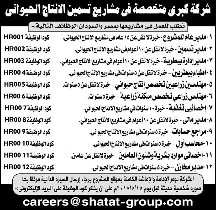 إعلانات وظائف جريدة الأهرام الأسبوعي 8