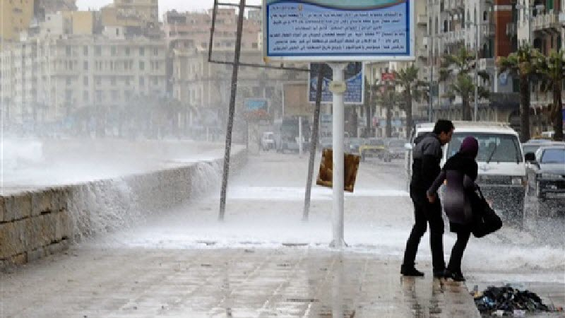 الارصاد: إمتداد حالة عدم الاستقرار وسقوط الامطار على  القاهرة والوجه البحري بداية من الغد