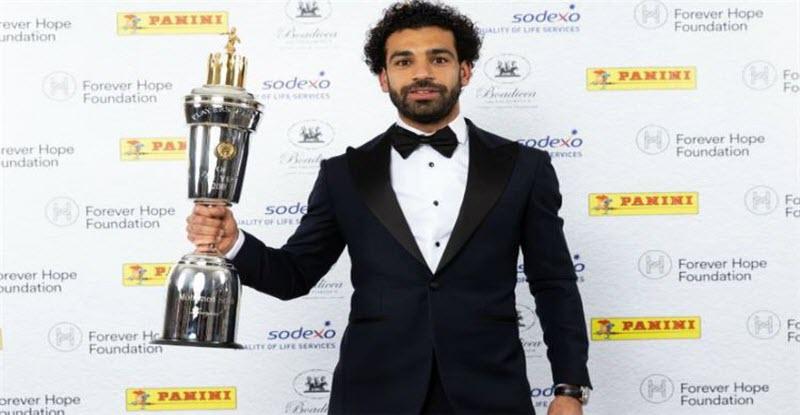 محمد صلاح يفوز بجائزة أفضل لاعب في انجلترا لموسم 2018/2017م