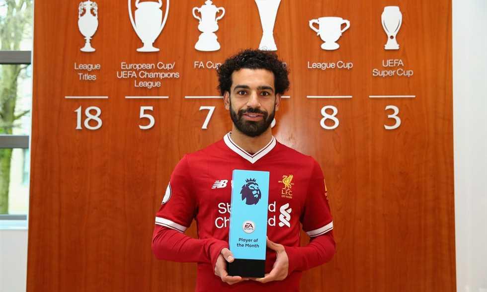 رسميًا.. محمد صلاح يتوج بجائزة أفضل لاعب في الشهر ويسجل رقم قياسي غير مسبوق