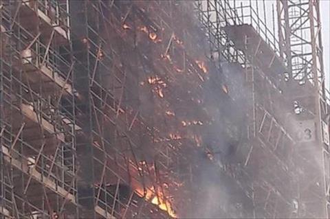حريق ضخم بالمتحف المصري الكبير