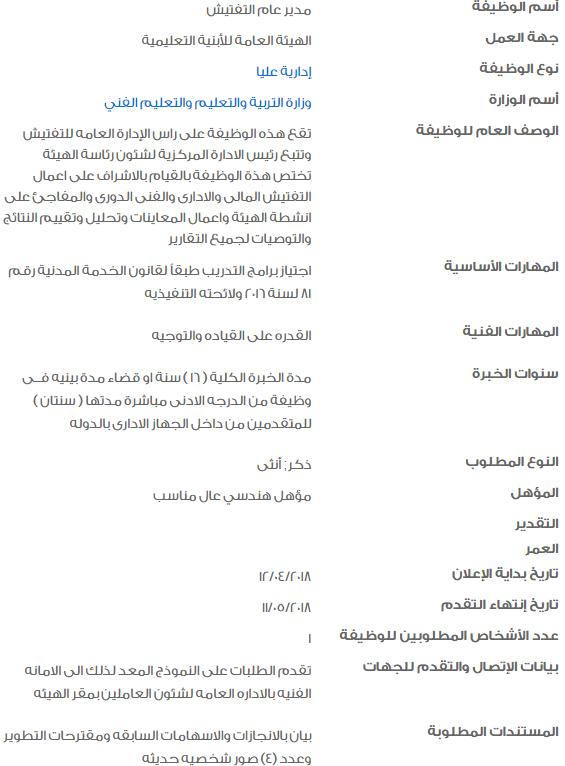 وظائف الحكومة المصرية 2018 2 - وظائف خالية في الحكومة المصرية لشهر مايو 2018