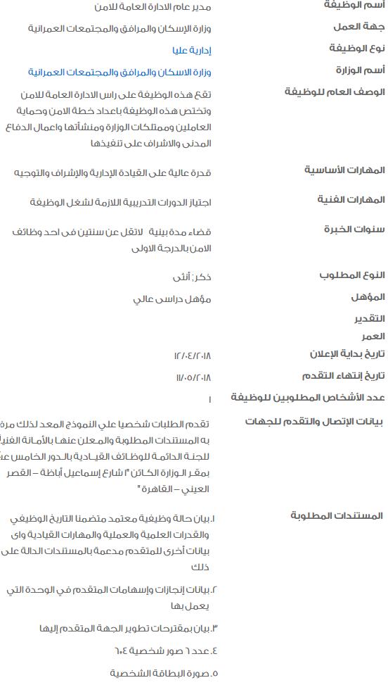 وظائف الحكومة المصرية 2018 5 - وظائف خالية في الحكومة المصرية لشهر مايو 2018