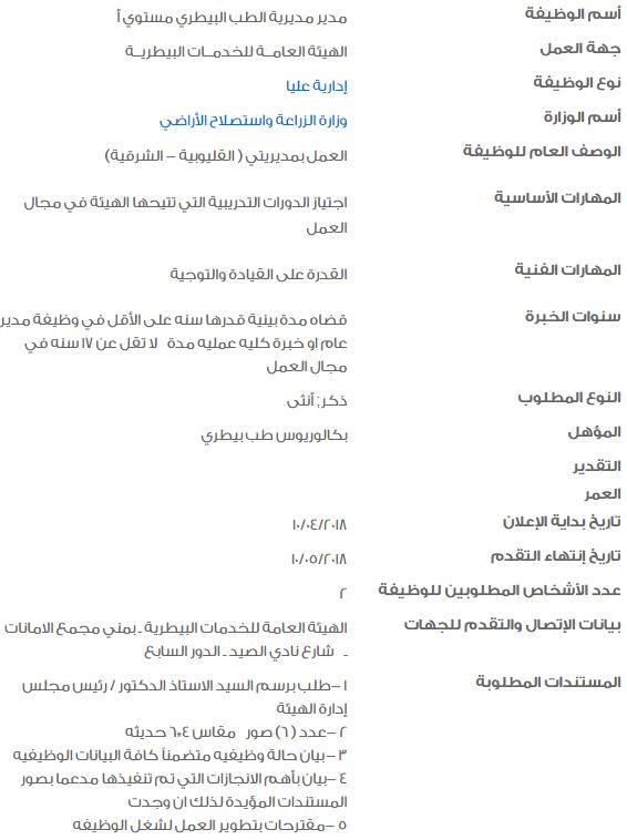 وظائف الحكومة - وظائف خالية في الحكومة المصرية لشهر مايو 2018