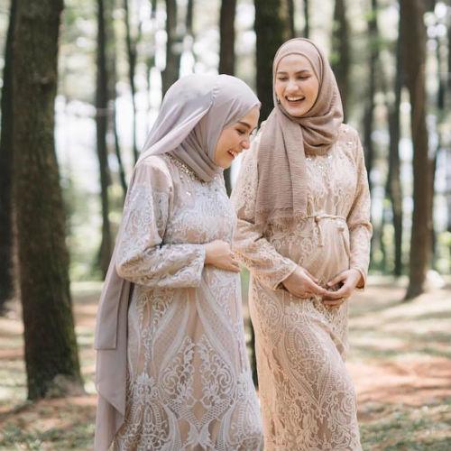 فساتين سهرة للمحجبات الحوامل 2019