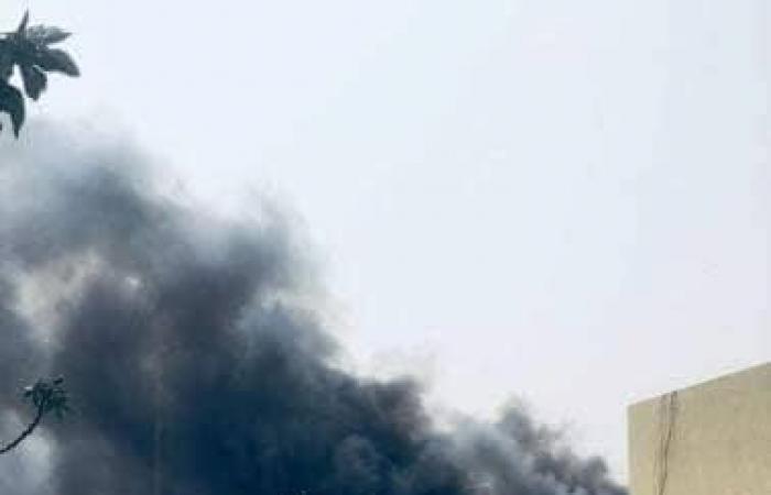شاهد بالفيديو| لقطات أولية للهجوم الانتحاري على المفوضية العليا للانتخابات بطرابلس
