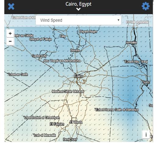 حركة الرياح مباشر للقاهرة الكبري