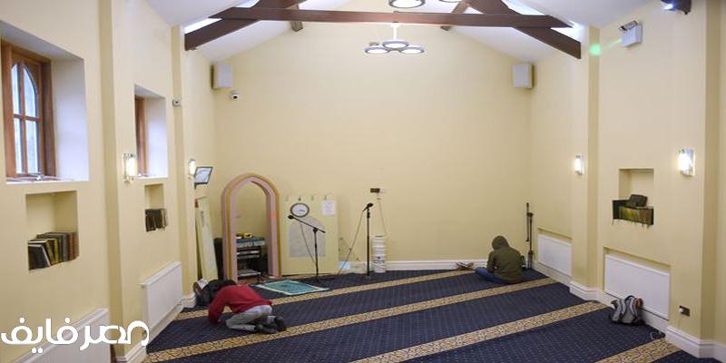 مسجد في أنجلترى من الداخل