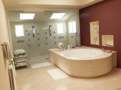 احدث وأجمل ديكورات وأطقم حمامات 2019 11