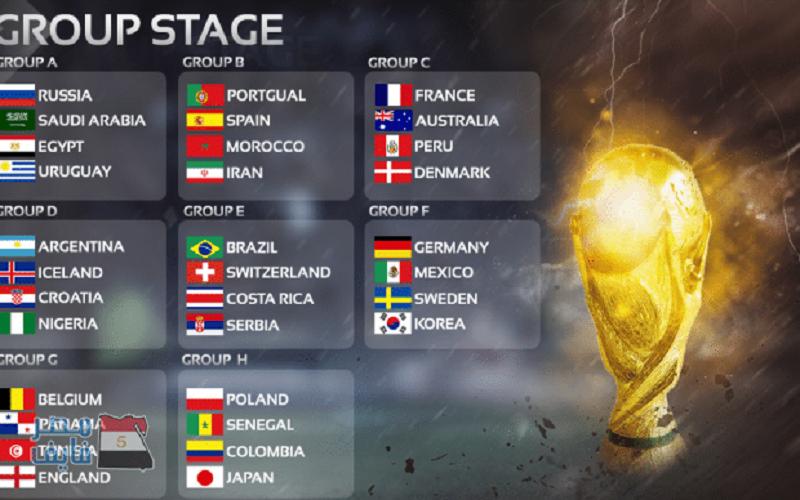 جدول مباريات كأس العالم روسيا 2018 الدور الأول