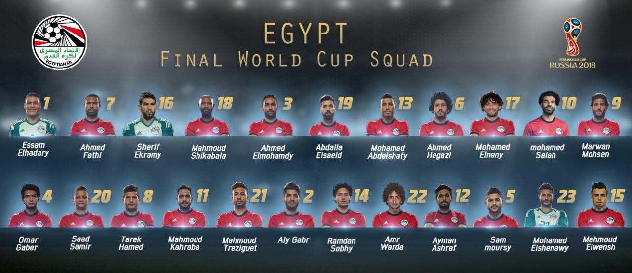 رسمياً .. قائمة منتخب مصر النهائية فى نهائيات كأس العالم روسيا 2018 1