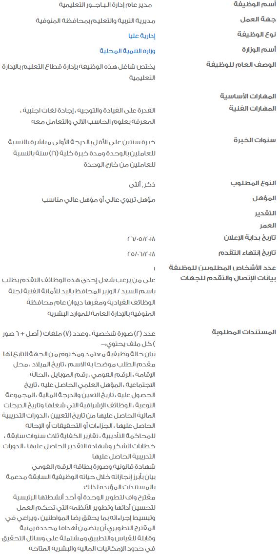 %D9%88%D8%B8%D8%A7%D8%A6%D9%81 2018 - وظائف خالية في الحكومة المصرية لشهر يونيو 2018