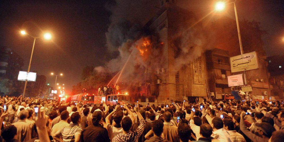 إندلاع حريق هائل داخل كنيسة بالقاهرة.. والصحة ترفع حالة الطورائ