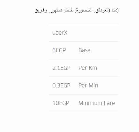"""ننشر الأسعار الجديدة لـ"""" أوبر"""" بعد قرار رفع الوقود 3"""