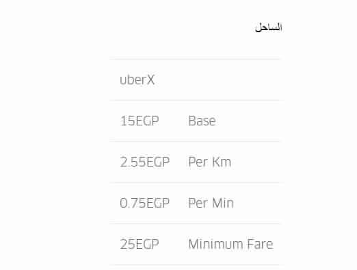 """ننشر الأسعار الجديدة لـ"""" أوبر"""" بعد قرار رفع الوقود 4"""