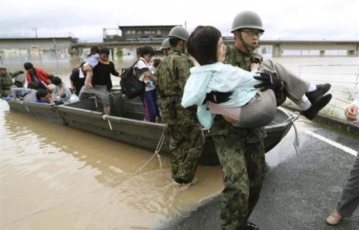 ضحايا أمطار اليابان تصل إلي 81 قتيلا و 63 شخص مفقود